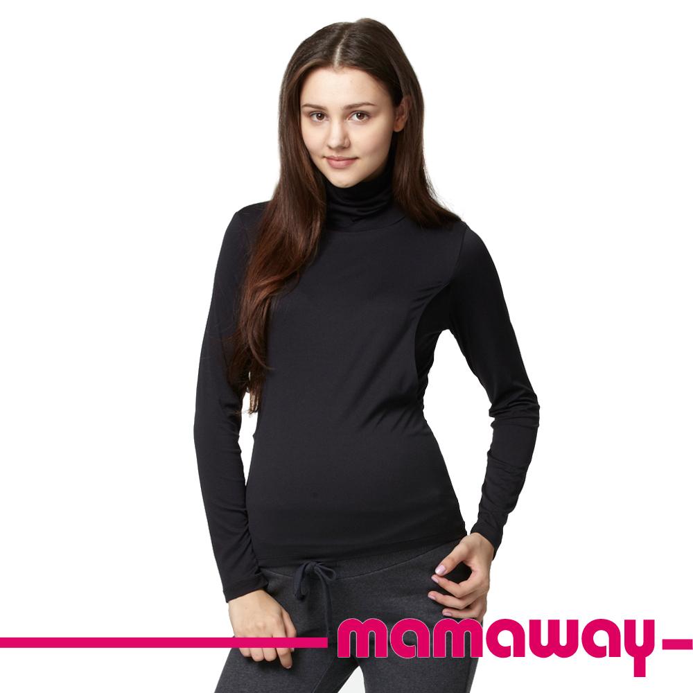 【Mamaway】超彈力絲柔高領哺乳衣