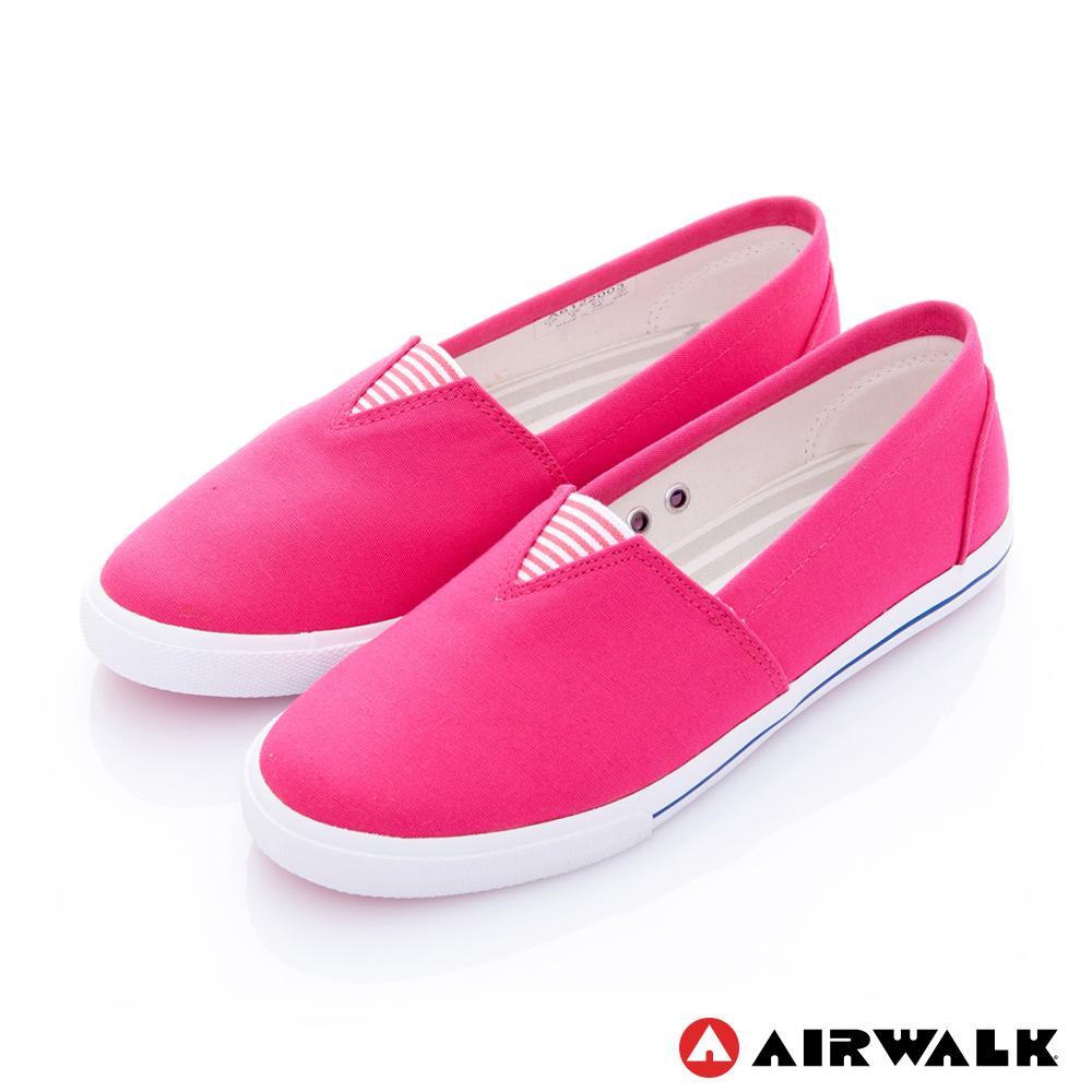 【AIRWALK】百搭舒適休閒帆布鞋-女款-桃紅色