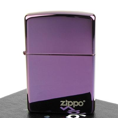 【ZIPPO】美系~LOGO字樣打火機~超質感Abyss紫色鏡面