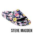 STEVE MADDEN-SLIVER 壓紋厚底拖-花卉紫