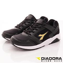 DIADORA-乳膠潮流慢跑鞋款-CTH810黑(女段)