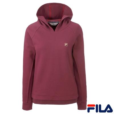 FILA女連帽T恤-深紫-5TEQ-5714-DP