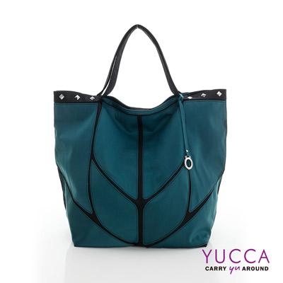YUCCA - 幾何防水尼龍托特包-軍綠色 1308547