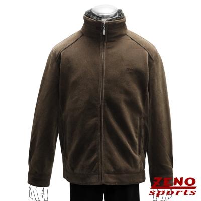 ZENO 外套仿羊絨極致保暖‧棕色