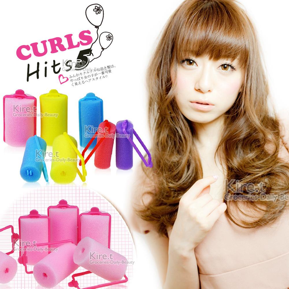 Kiret 海綿髮捲套組-贈瀏海貼 睡眠髮捲 卷髮器(超值27入)