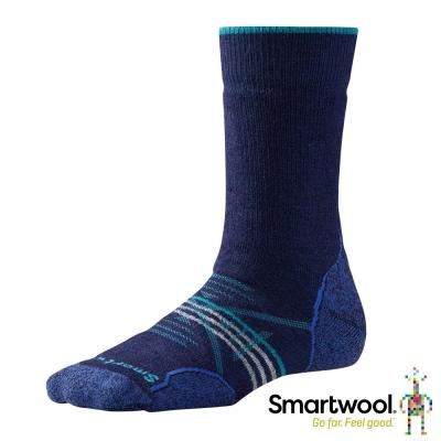 SmartWool 羊毛襪 女 PhD戶外中級減震中長襪 墨藍色