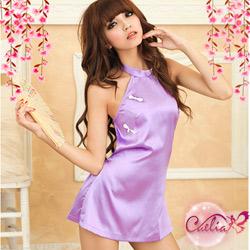 【Caelia】月夜飄香!美背肚兜二件式短旗袍