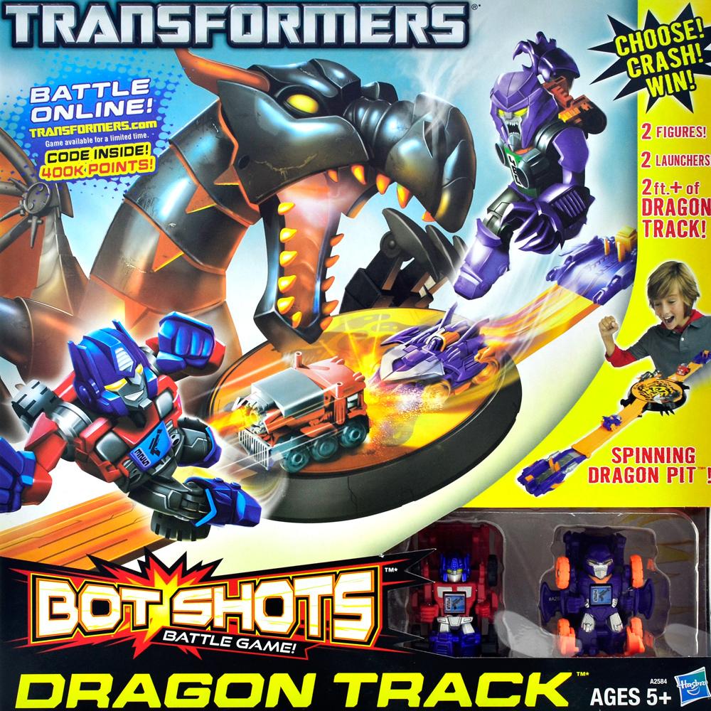 正版授權《TRANSFORMERS》柯博文v.s密卡登Bot Shots領袖對戰軌道組合
