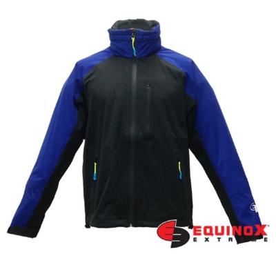 EQUINOX 輕量防水透溼戶外運動風衣-男款黑藍