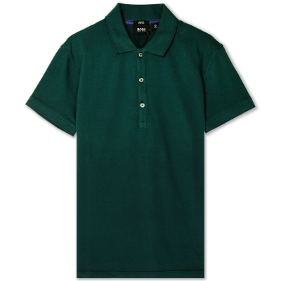HUGO BOSS 黑標素面POLO男衫(深綠)