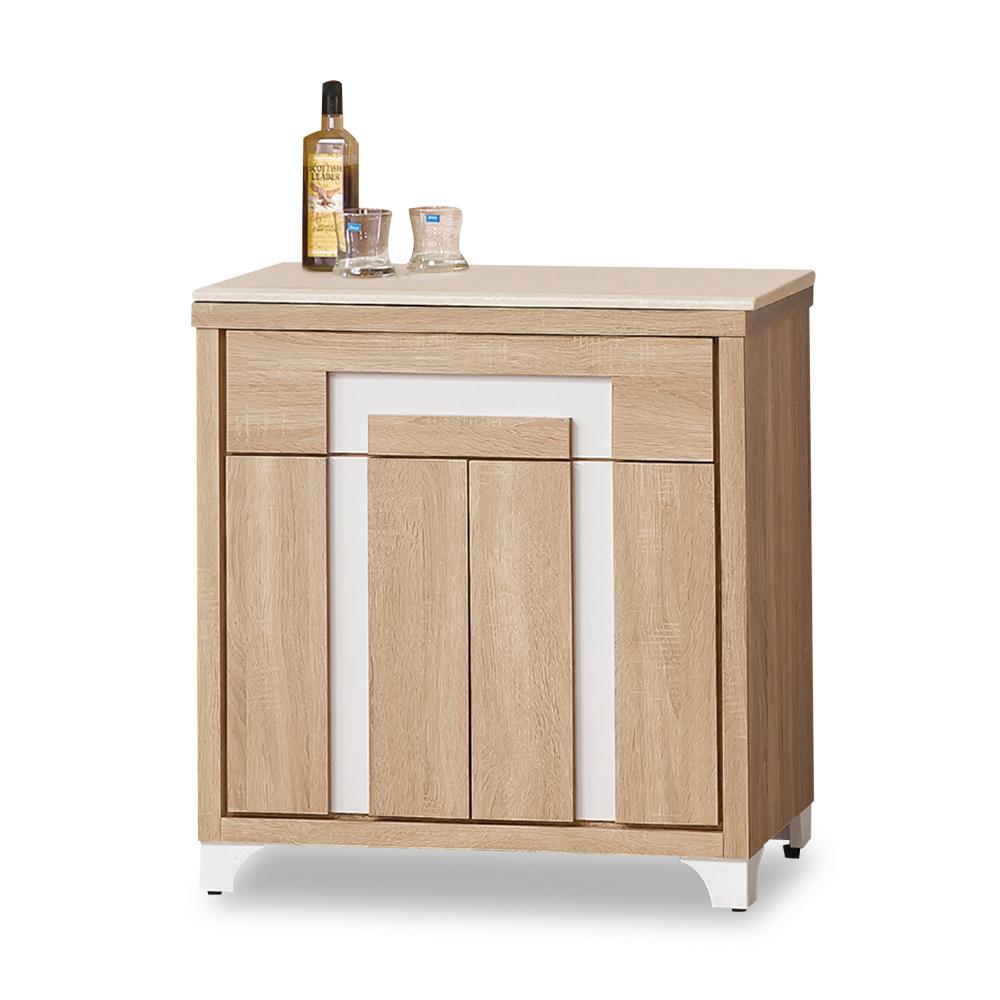 時尚屋 尼克絲北原橡木3尺餐櫃下座 寬80x深45x高81cm