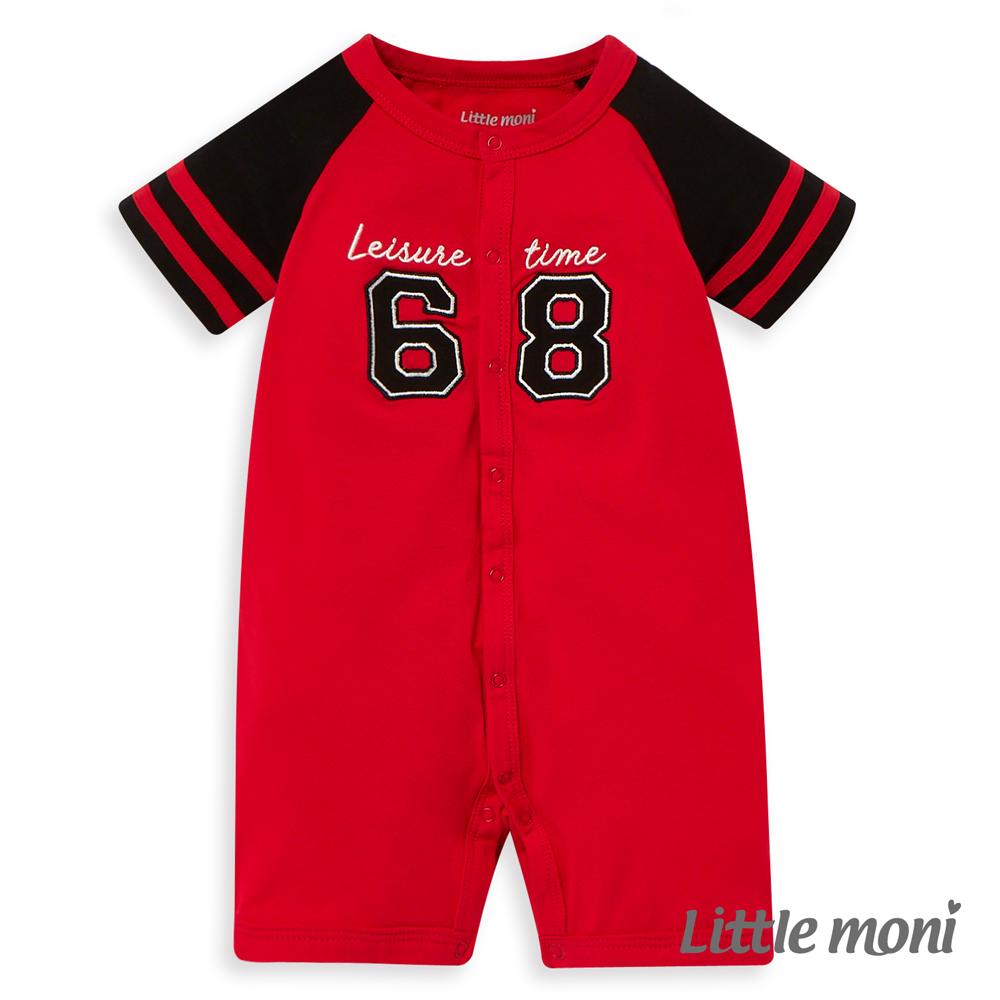 Little moni 棒球風連身褲 (2色可選)