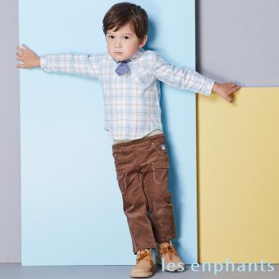 les enphants baby溫暖平絨口袋休閒褲 (共2色)
