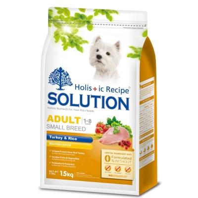 SOLUTION 耐吉斯 成犬 高適口性配方 火雞肉&田園蔬菜 7.5公斤 X 1包