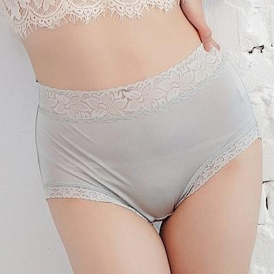 內褲 粉嫩色調100%蠶絲中高腰三角內褲 (灰) Chlansilk 闕蘭絹