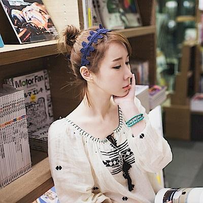 Hera 赫拉 韓式甜美蕾絲花朵多層唯美優雅髮帶(3色)