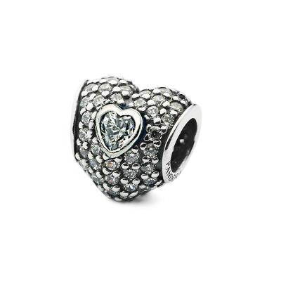 Pandora 潘朵拉 心心相印透明愛心鋯石墜