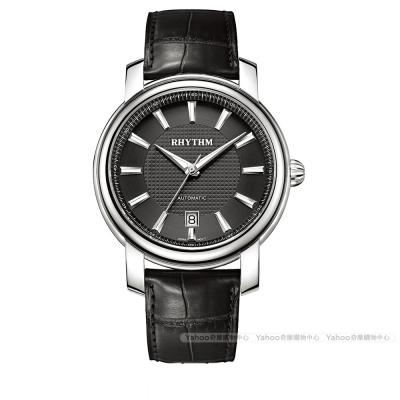 RHYTHM日本麗聲 雅仕品味自動機械腕錶A1103L02-黑/51mm