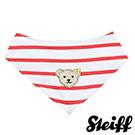 STEIFF德國金耳釦泰迪熊 - 紅色 條紋 領巾 (嬰幼兒衛浴系列)