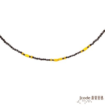 J code真愛密碼金飾 獨特黃金/尖晶石項鍊
