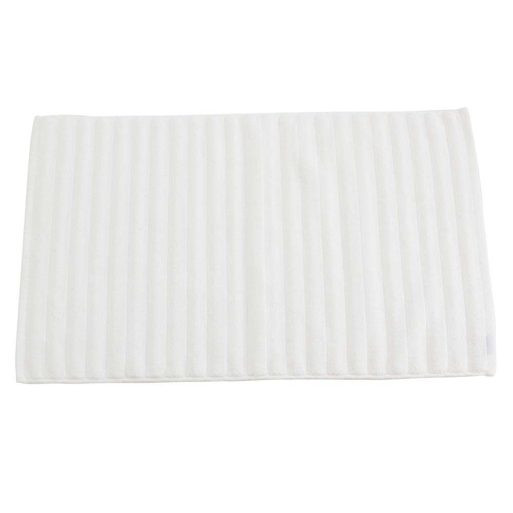 【LOVEL】波浪立體造型純棉浴墊/地墊-象牙白