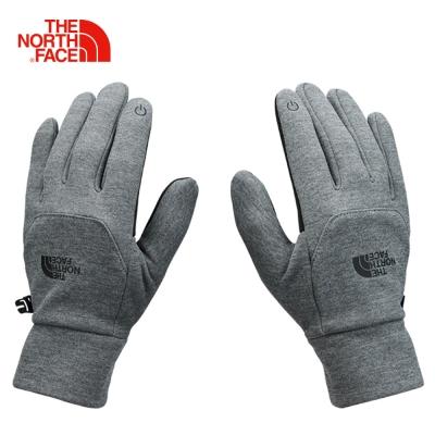 The North Face北面男款灰色保暖可觸控戶外運動旅行手套
