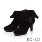 KOKKO -反轉美人2穿式絨毛短靴-經典黑