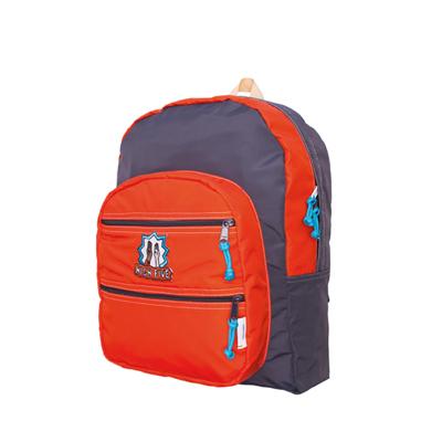 MOKUYOBI / Big Pocket / L.A空運繽紛旅行多功能筆電後背包-橘紅色