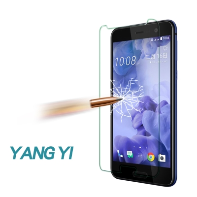 揚邑 HTC U Play 5.2吋 防爆防刮防眩弧邊 9H鋼化玻璃保護貼膜