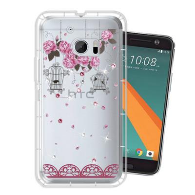 WT HTC 10 / M10 奧地利水晶彩繪空壓手機殼(璀璨蕾絲)
