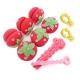 軟式草莓髮捲球+愛心海綿空氣感髮捲-捲髮造型