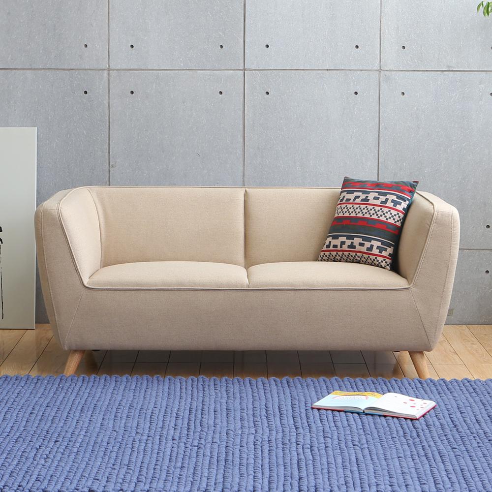 MODERN DECO Maglie麥葛琳簡約造型三人布沙發-多色選