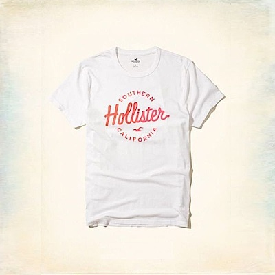 Hollister HCO  短袖 T恤 白色 0373