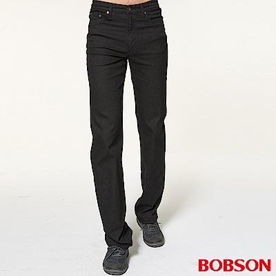 BOBSON 男款輕量身縮直筒褲
