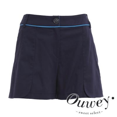 OUWEY歐薇-極簡配色線條百搭短褲