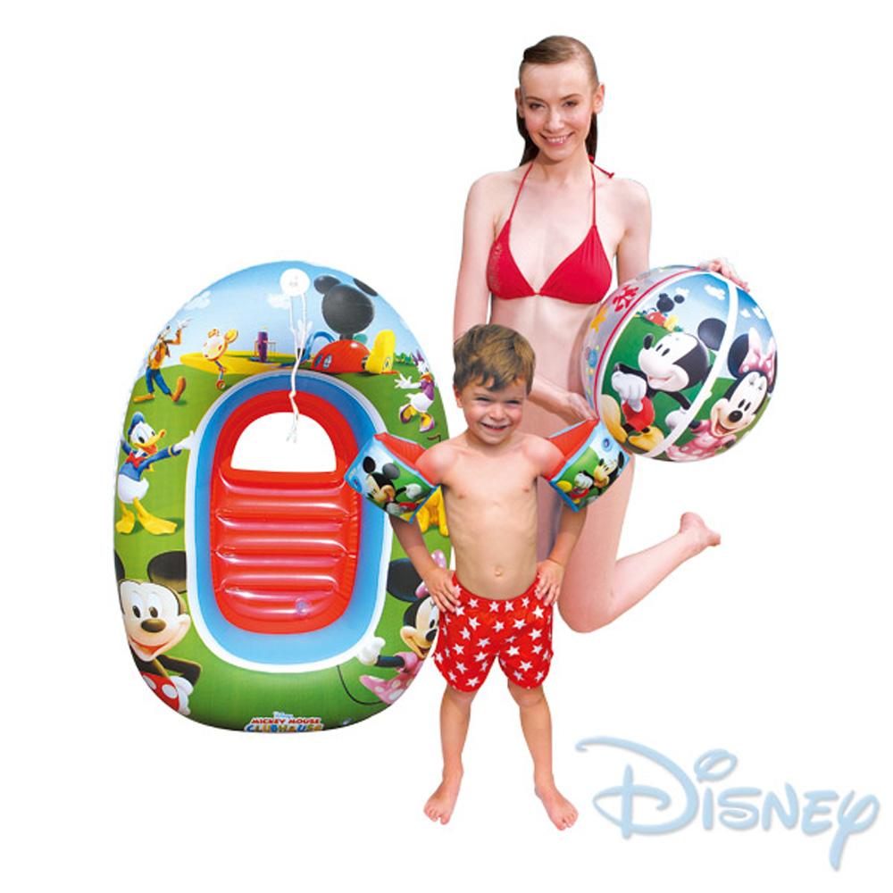 【迪士尼】兒童旅行用充氣戲水套裝-米奇