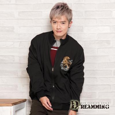 Dreamming 日系加絨Tiger立領棉質刷毛外套-共二色