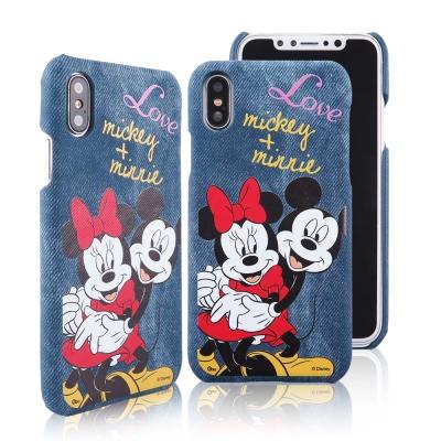 Disney迪士尼iPhone X 牛仔彩繪保護殼