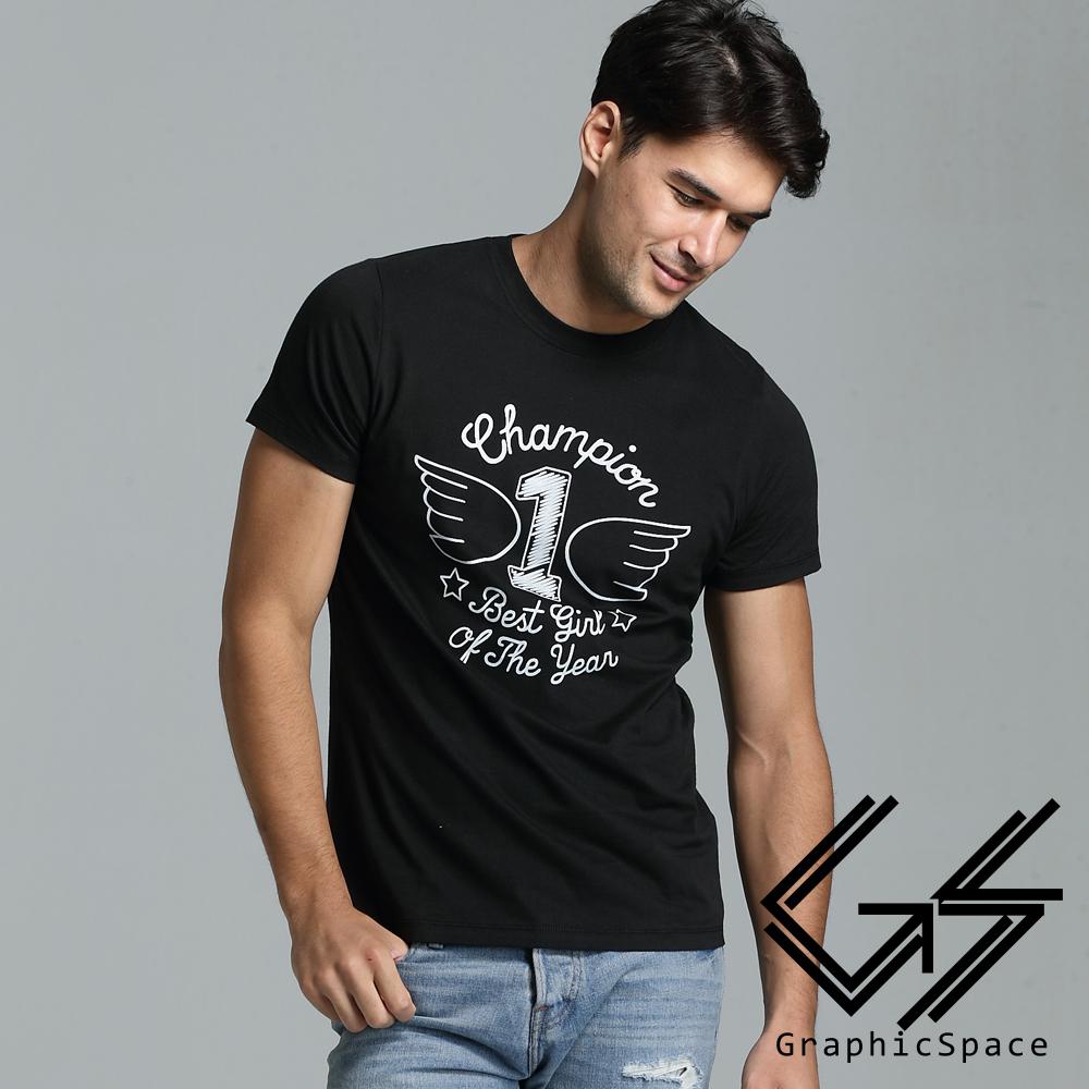 筆畫風翅膀1號磨毛水洗T恤(共三色)-GraphicSpace