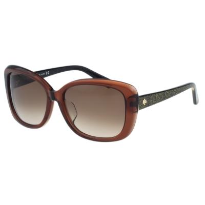 Kate Spade-造型方框 太陽眼鏡(咖啡色)