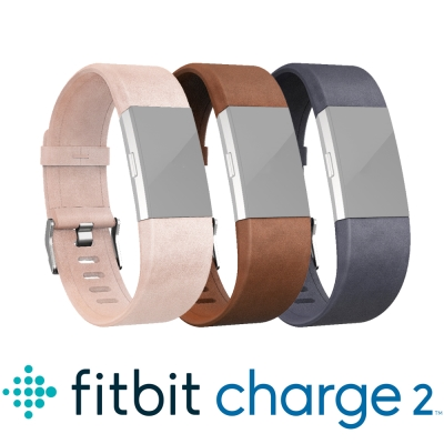 Fitbit Charge 2 皮革錶帶
