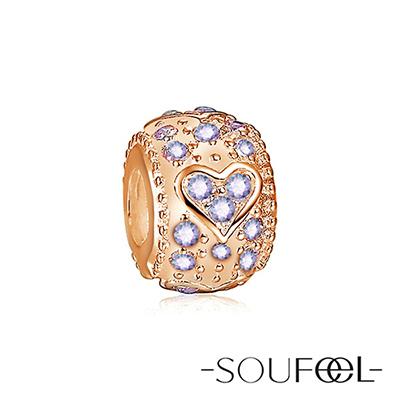 SOUFEEL索菲爾 925純銀珠飾 愛情(玫瑰金) 串珠
