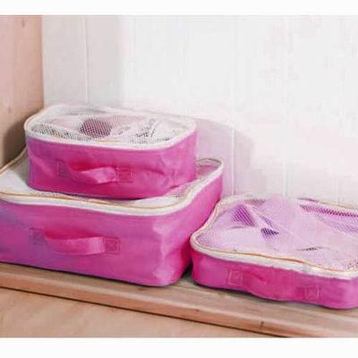 iSFun 旅行專用 網狀衣物收納袋三入 二色可選