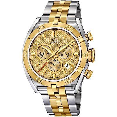 JAGUAR積架 EXECUTIVE 極速計時手錶-金x雙色/45.8mm