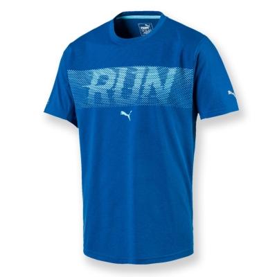 PUMA-男性慢跑系列RUN短袖T恤-寶石藍-歐碼