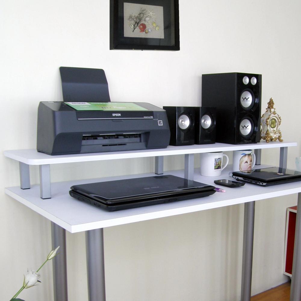 【頂堅】深30×寬120x高12.5cm桌上型置物架-2入(二色)