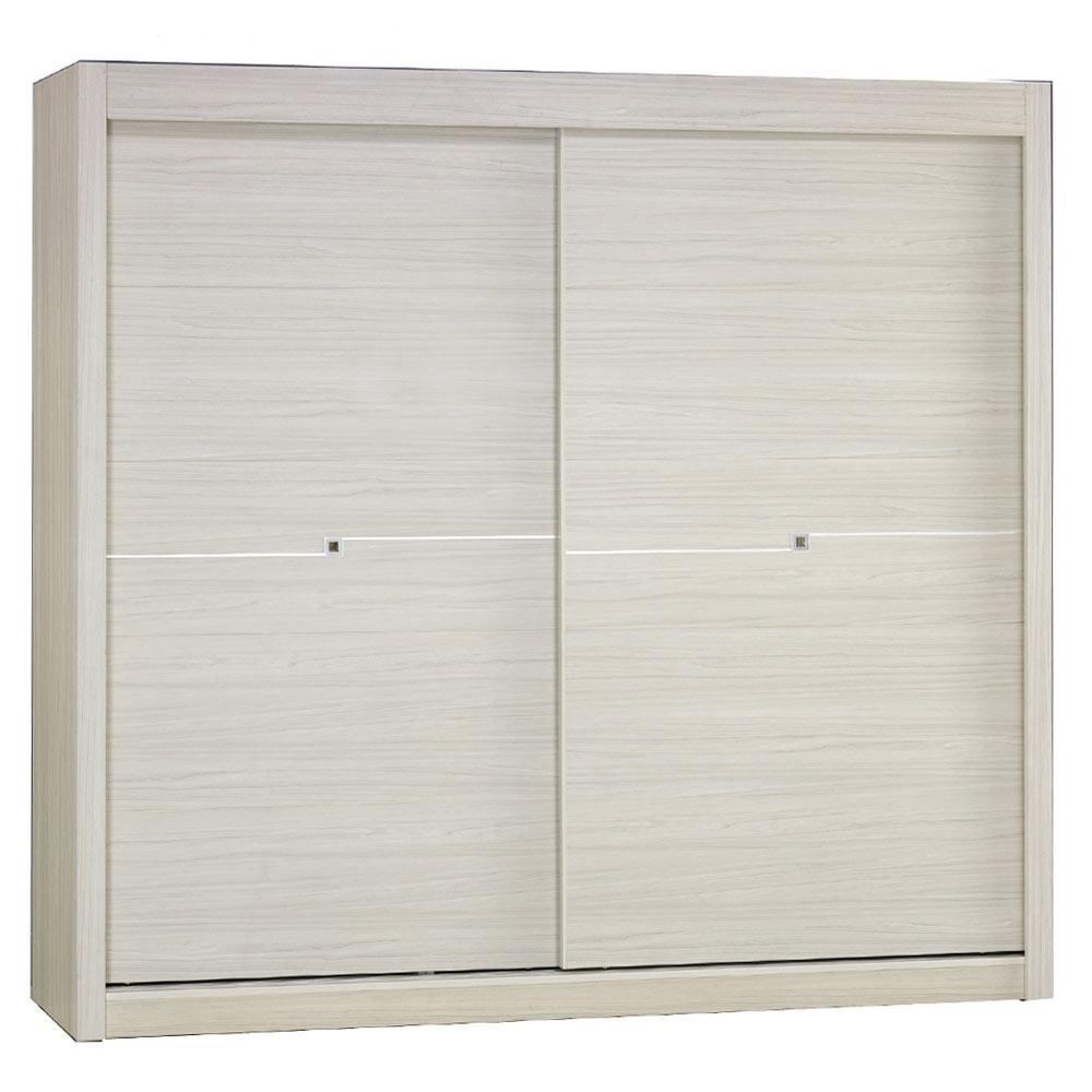 AT HOME - 克里斯7X7尺雪杉白推門衣櫃 213x60x203cm