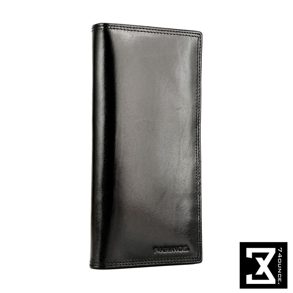 74盎司 Maroon馬鞍皮長夾(零錢層)[N-464]黑