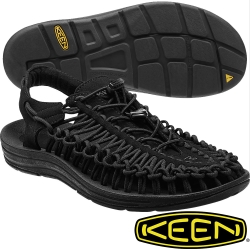 KEEN 女專業戶外護趾編織涼鞋 Uneek-1014099黑色