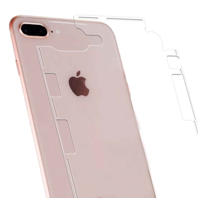 iPhone 8 Plus 5.5吋 側邊蝶翼加強型抗污防指紋機身背膜 保護貼(...